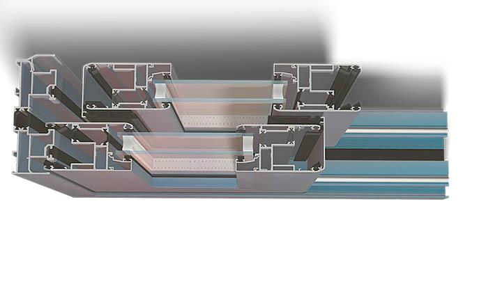 Corredera IT-128 ELV perfil Suteal