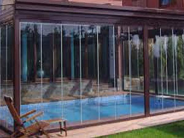 cerramiento cortina de cristal piscinas suteal