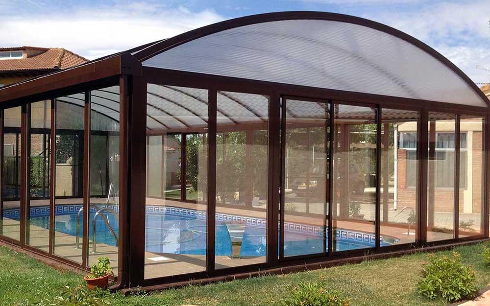 Cubierta de piscina curva Valladolid