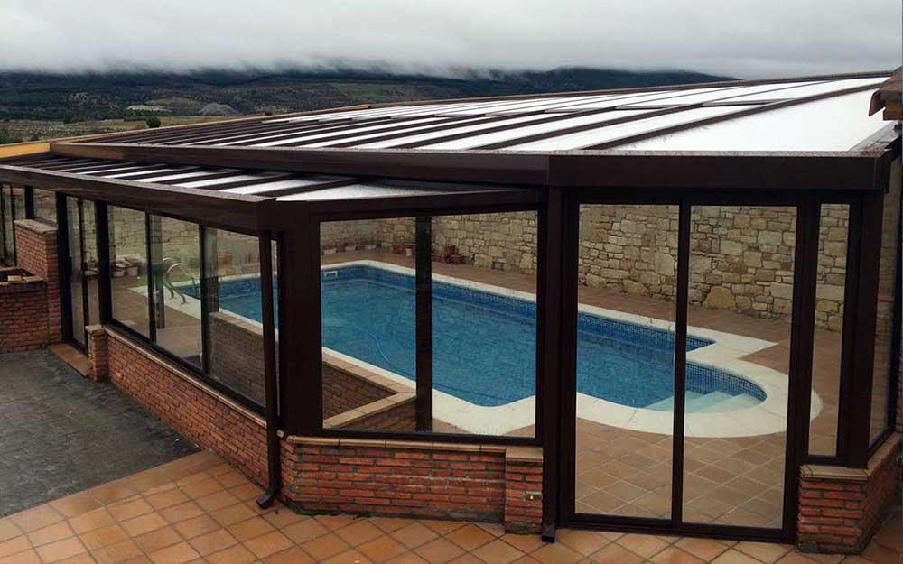 Cubierta de piscina irregular Suteal Valladolid