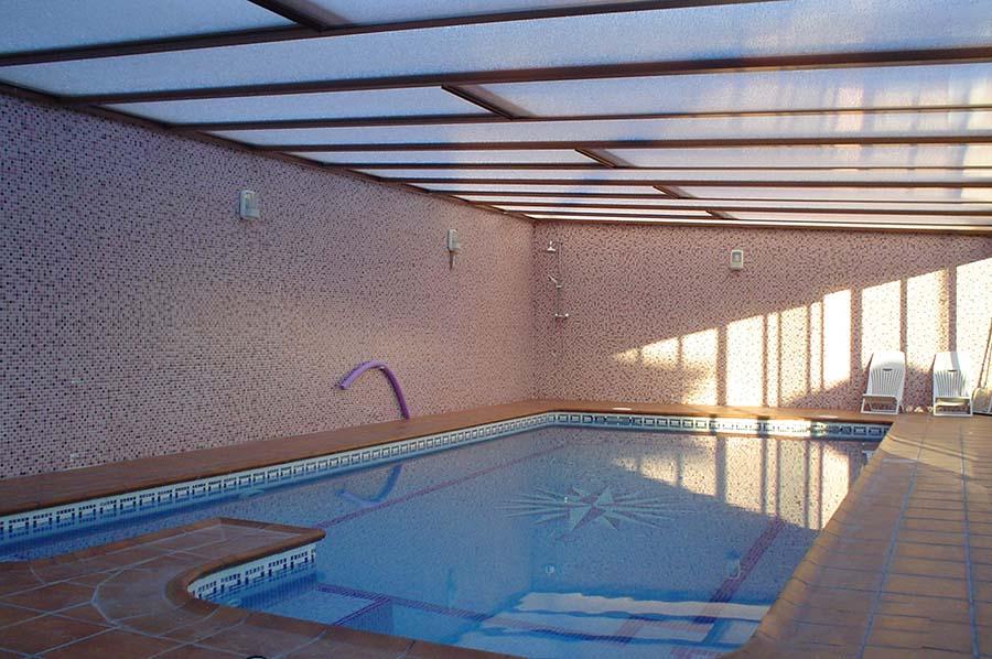 Cubiertas de piscina a un agua Valladolid 1