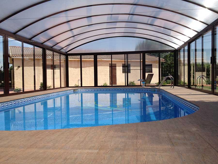 Cubiertas de piscina curva a medio punto 5