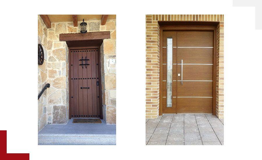 Puertas residenciales aluminio Valladolid